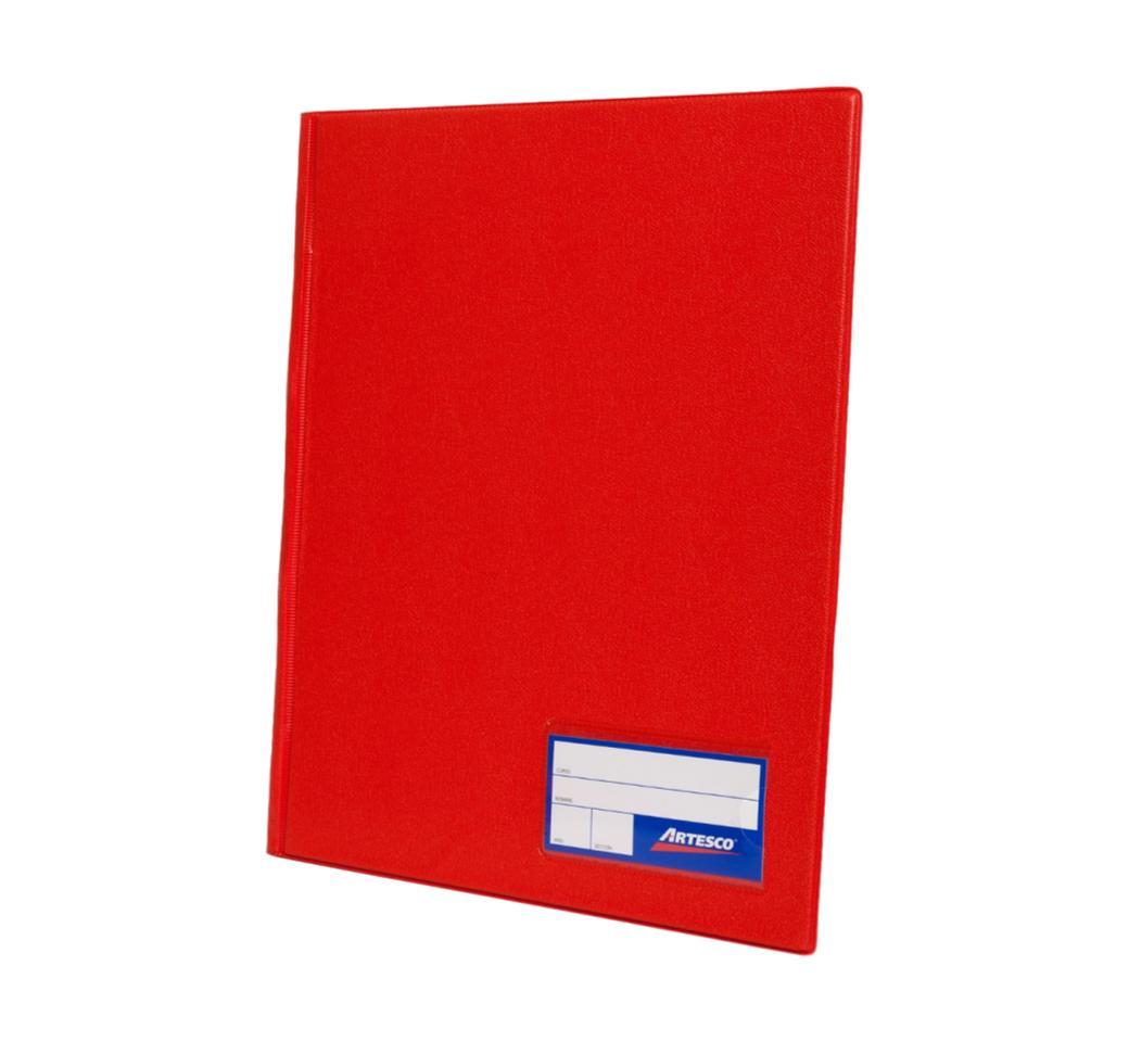 Folder Doble Tapa A4 con Fastener Gusano Rojo Artesco