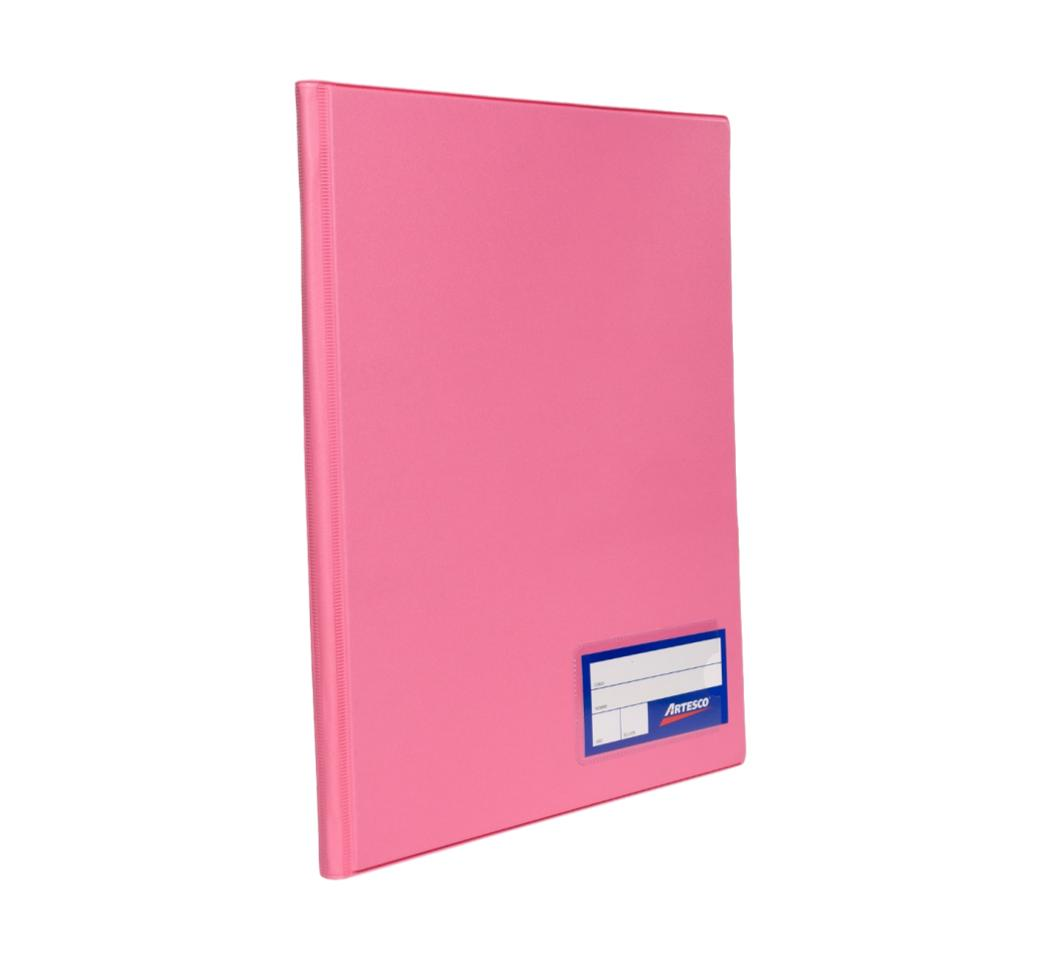 Folder Doble Tapa A4 con Fastener Gusano Rosado Artesco