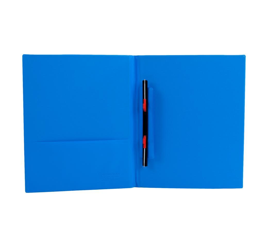 Folder Doble Tapa A4 con Fastener Gusano Turquesa Artesco