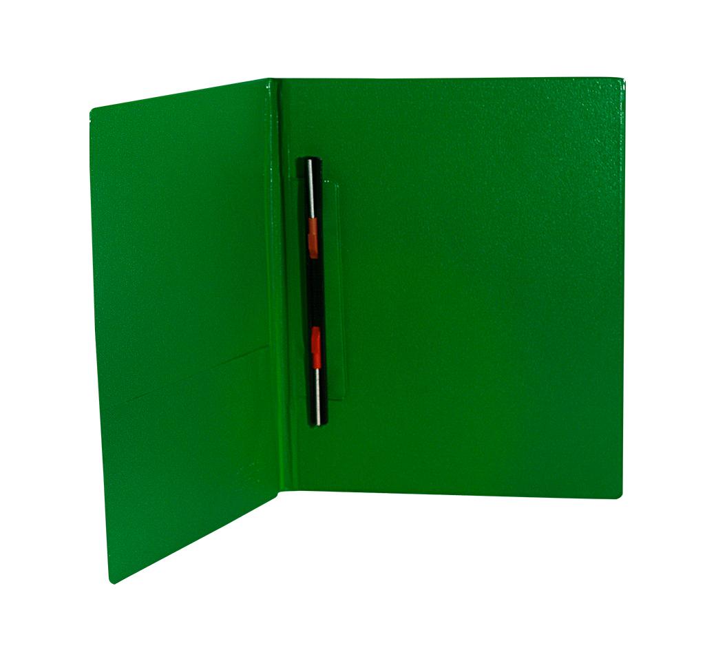 Folder Doble Tapa A4 con Fastener Gusano Verde Hoja Artesco