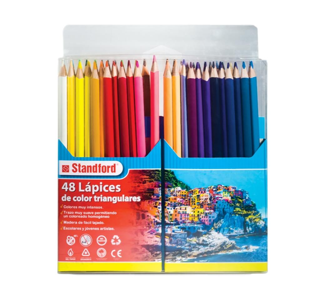 Colores Triangulares x 48 Largos Standford