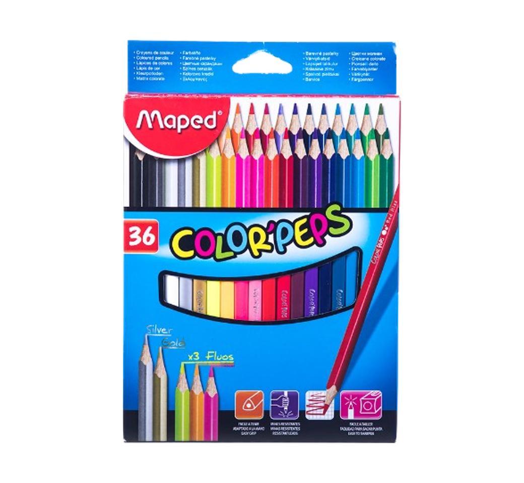 Colores Triangulares x 36 Largos Peps Maped