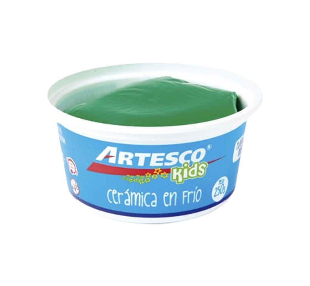 Cerámica Frío x 250 gr Verde Pote Artesco