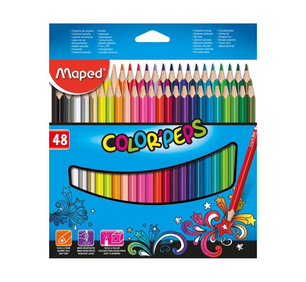 Colores Triangulares x 48 Largos Peps Maped