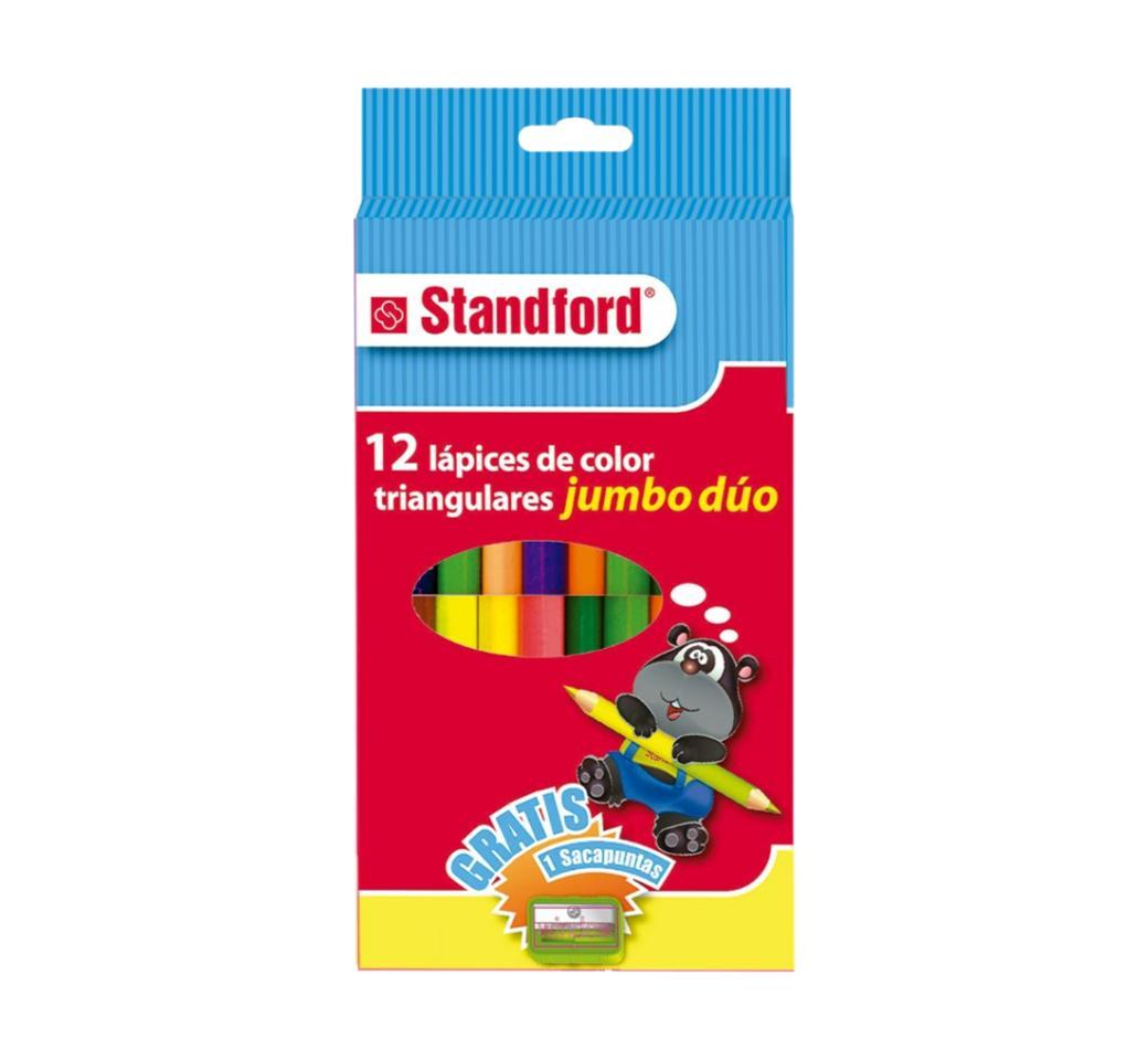 Colores Triangulares Jumbo Duo x 12 Standford