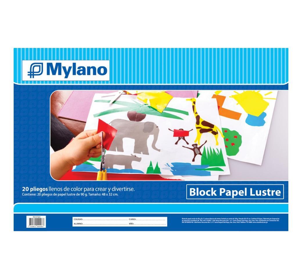 Block Papel Lustre  Mylano