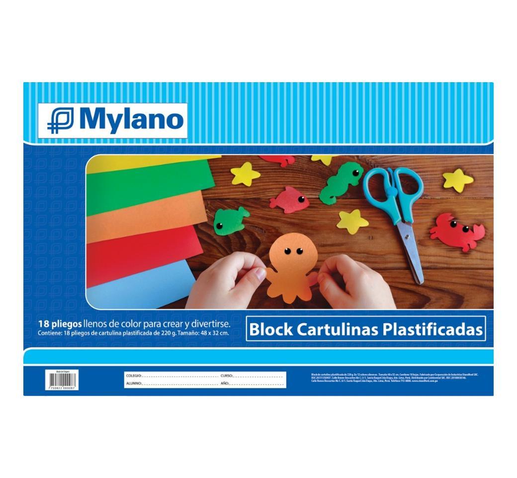 Block Cartulina Plastificada Mylano