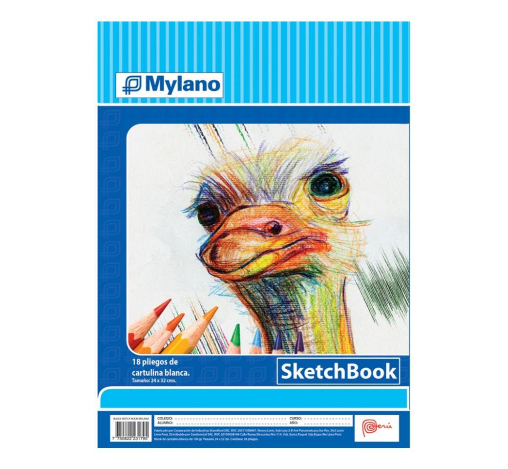 Block Sketch Book Espiralado Unid. Mylano