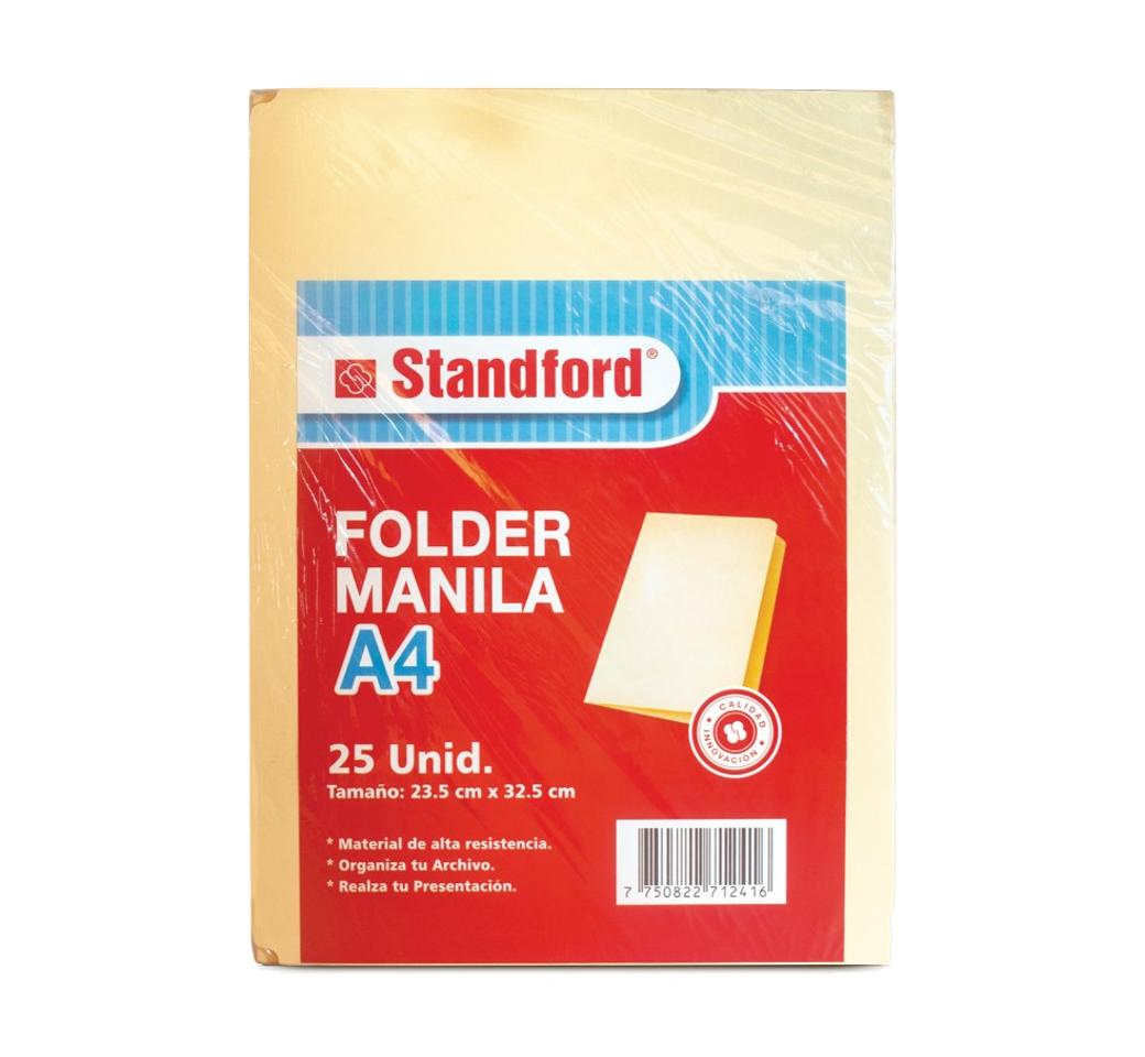 File Manila A4 Standford pqt. x 25 Unid. Standford