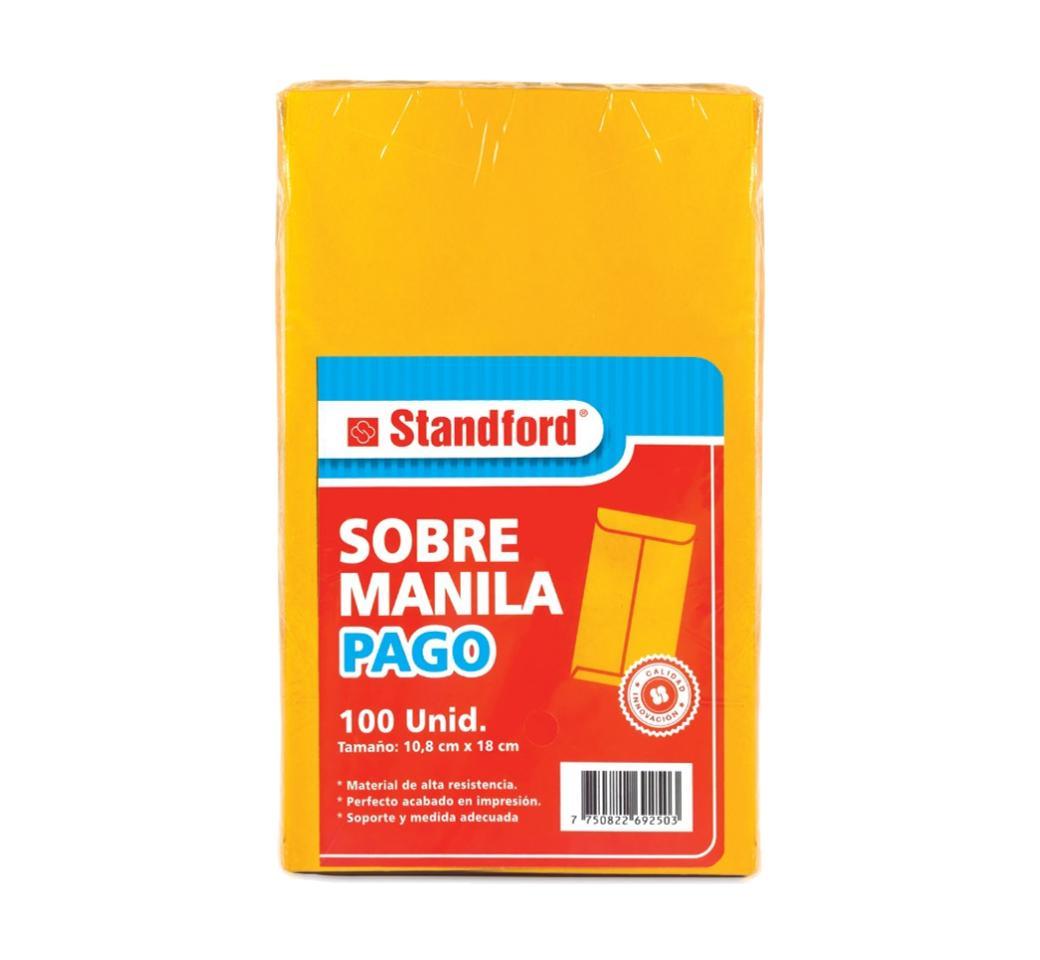 Sobre Manila Pago pqt. x 100 Unid. Standford