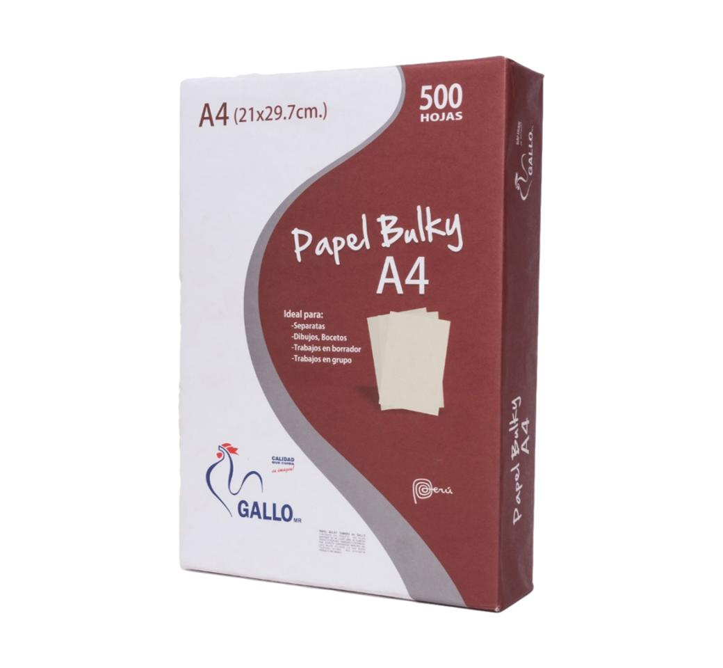 Papel Bulky A4 75 gr x 500 Hojas Gallo