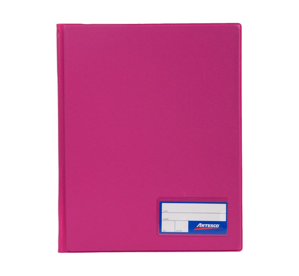 Folder Doble Tapa A4 con Fastener Gusano Fresa Artesco
