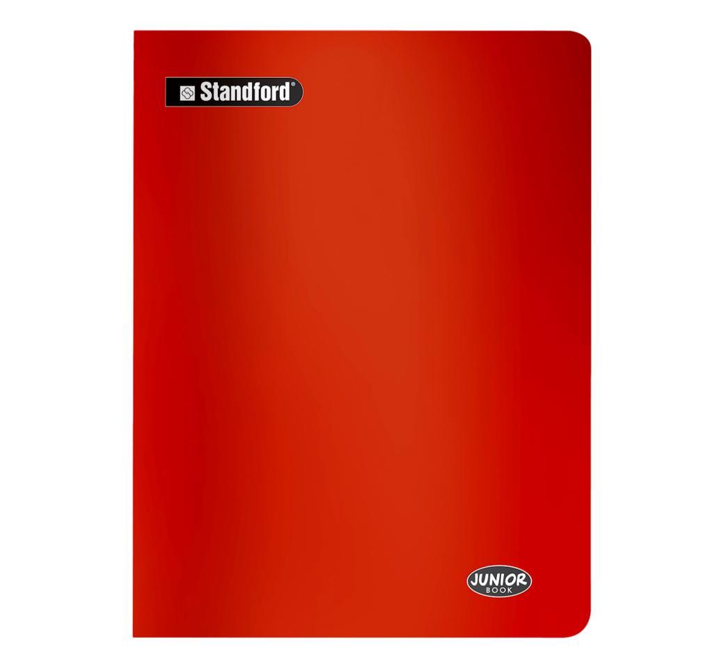 Cuaderno Junior Book Rojo Cuadriculado Grapado x 88 hjs Standford