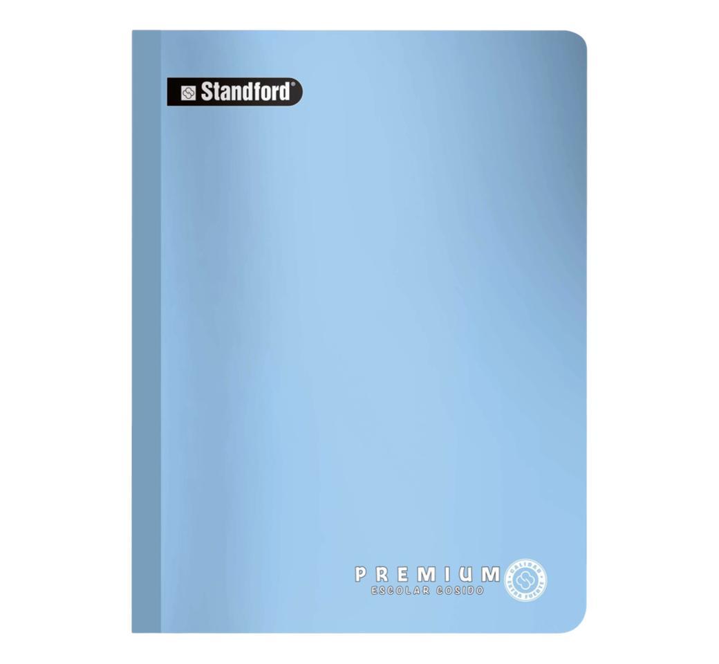 Cuaderno Premium Celeste Cuadriculado Cosido x 92 hjs Standford