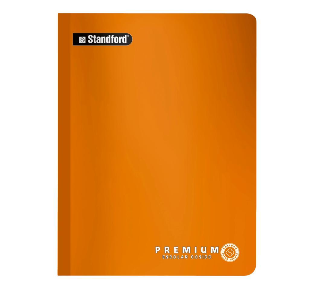 Cuaderno Premium Naranja Cuadriculado Cosido  x 92 hjs Standford