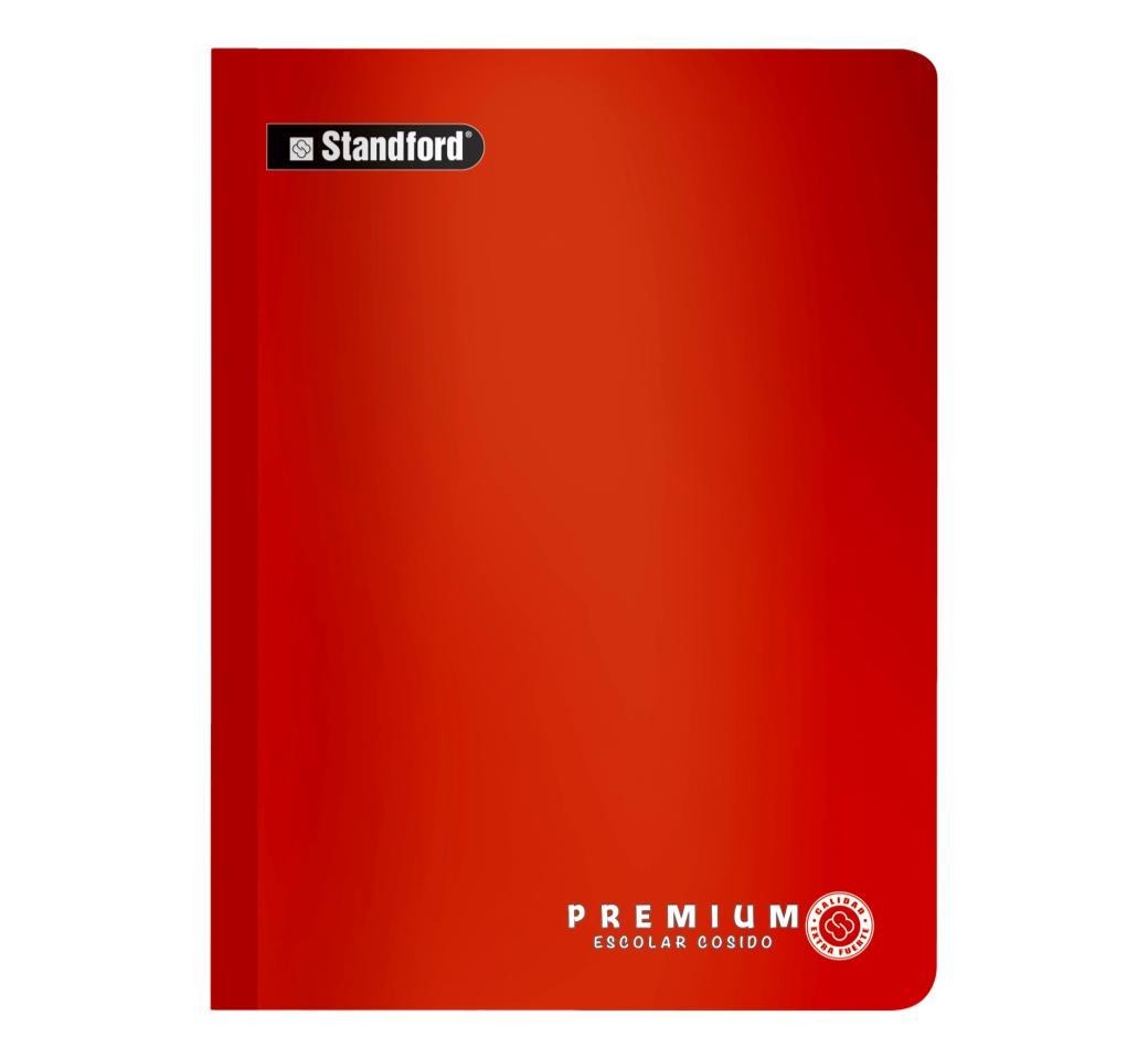 Cuaderno Premium Rojo Cuadriculado Cosido x 92 hjs Standford