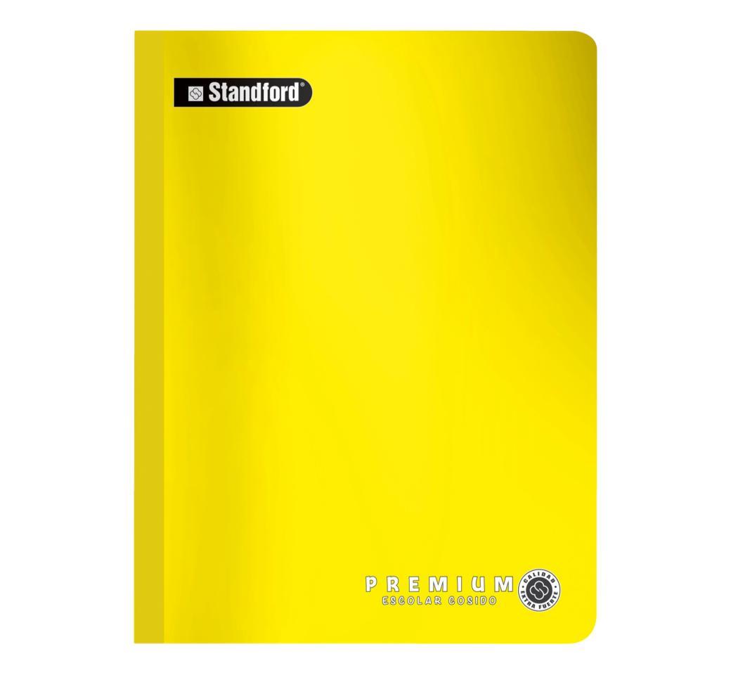 Cuaderno Premium Amarillo Rayado Cosido x 92 hjs Standford