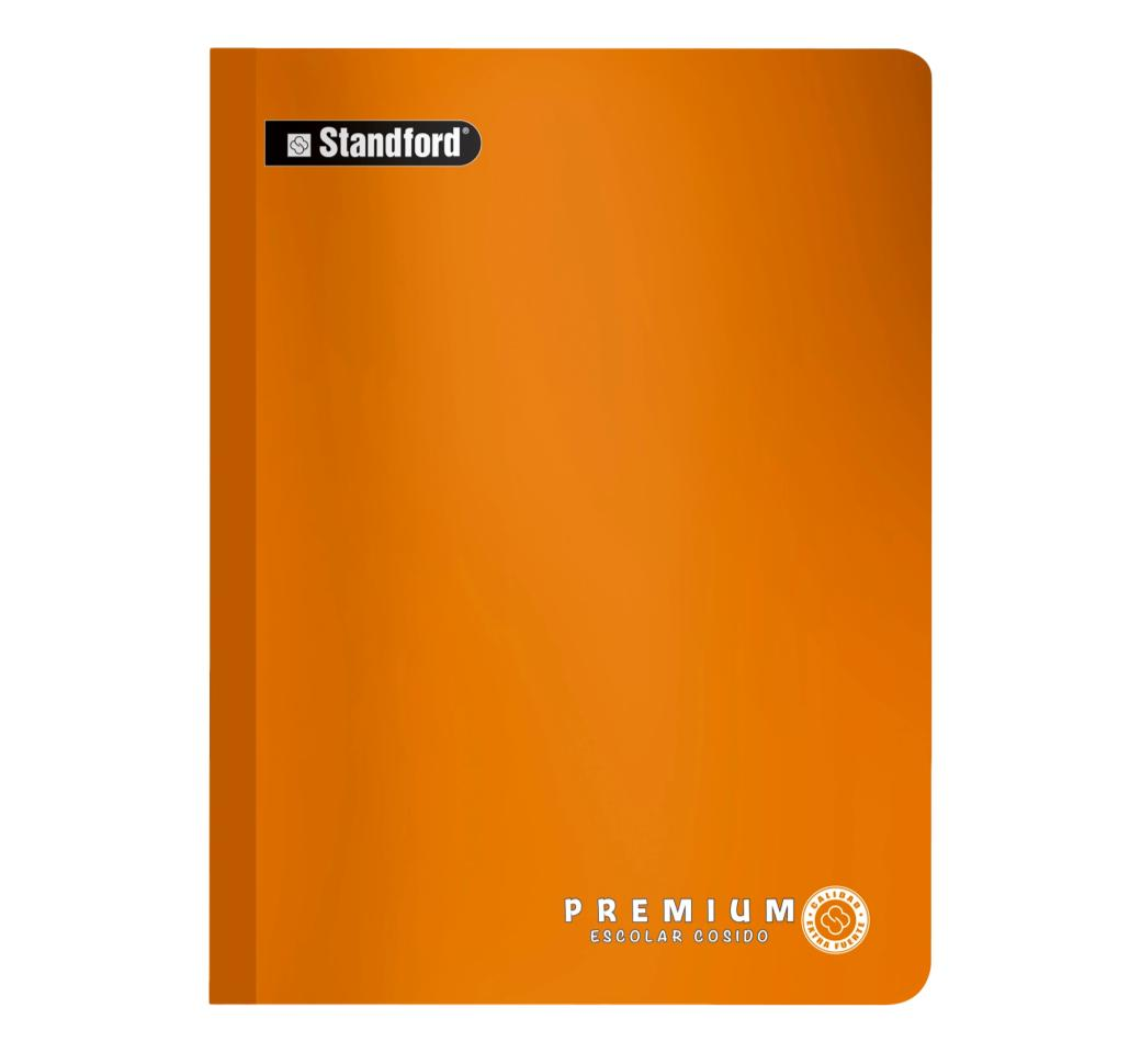 Cuaderno Premium Naranja Rayado Cosido x 92 hjs Standford