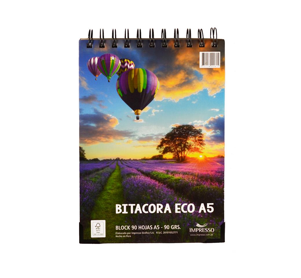 Block  Bitácora Eco Fine A5 x 90 hjs. unid. Fine