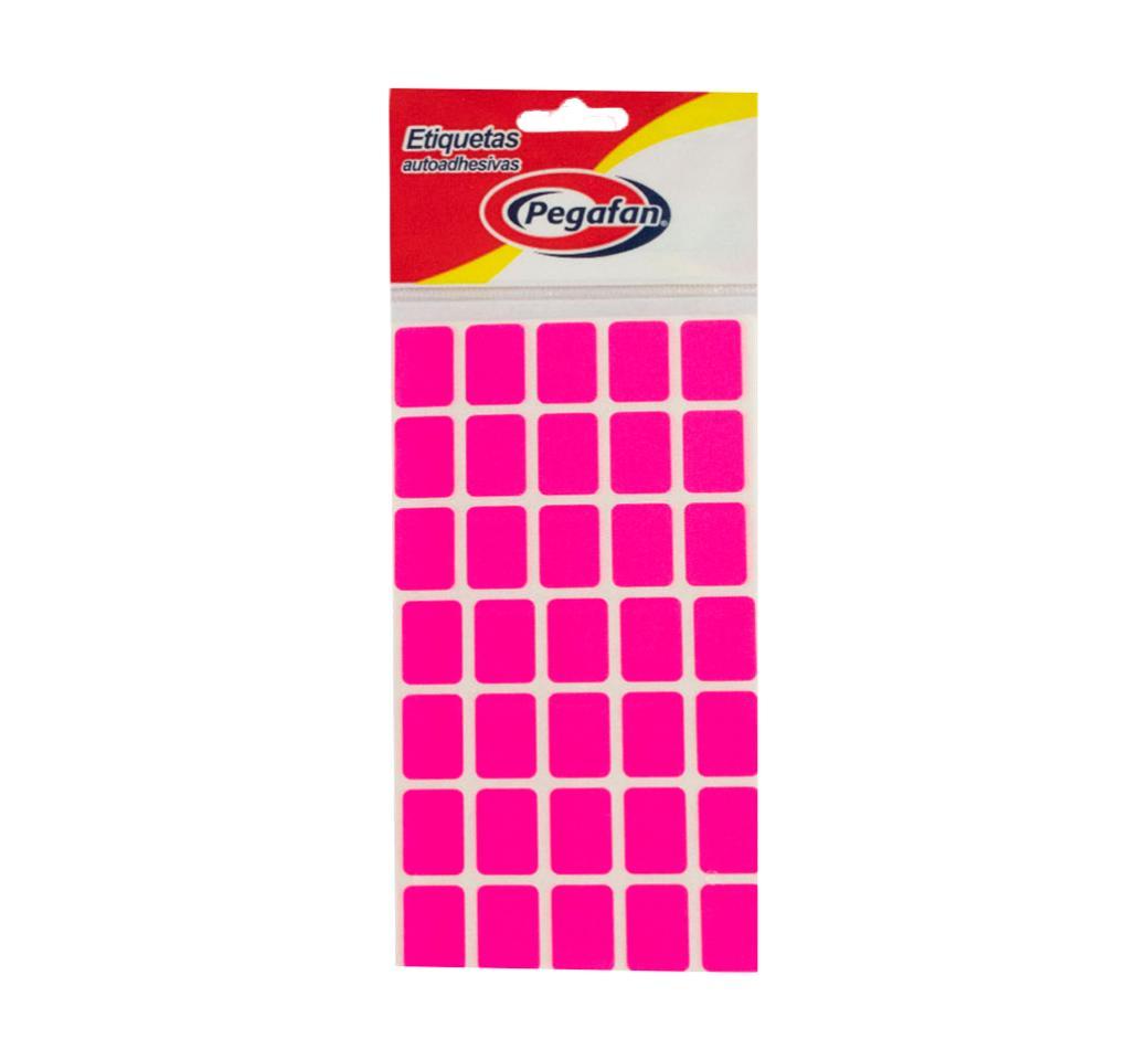 Etiquetas 19 x 13 mm Flourescente Rosado x  500 unid. Pegafan