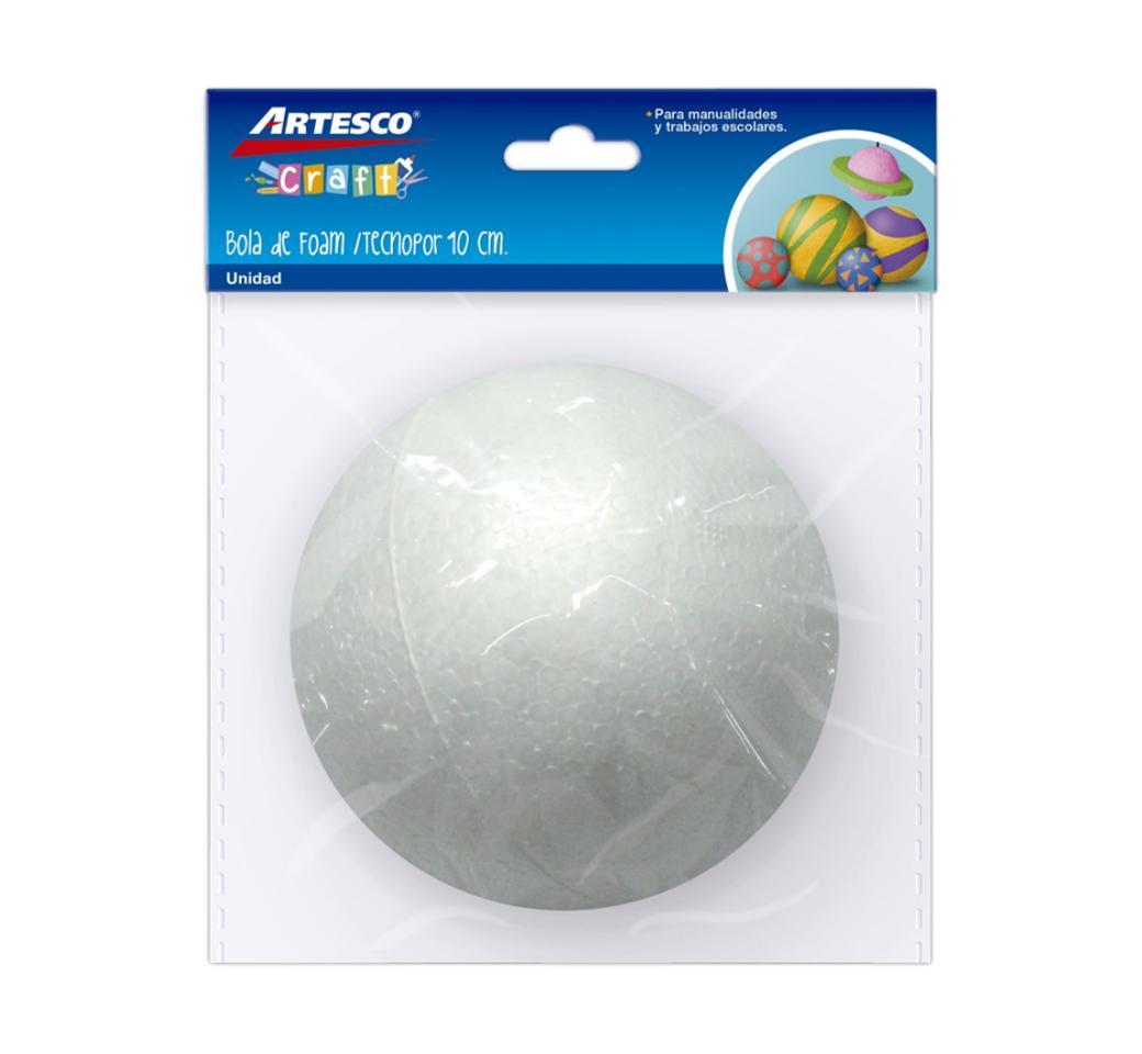 Bola de Tecnopor 10 cm x unid. Artesco