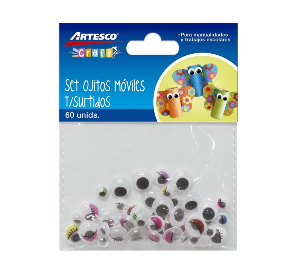 Ojitos Móviles Surtidos x 60 unid. (Colores) Artesco