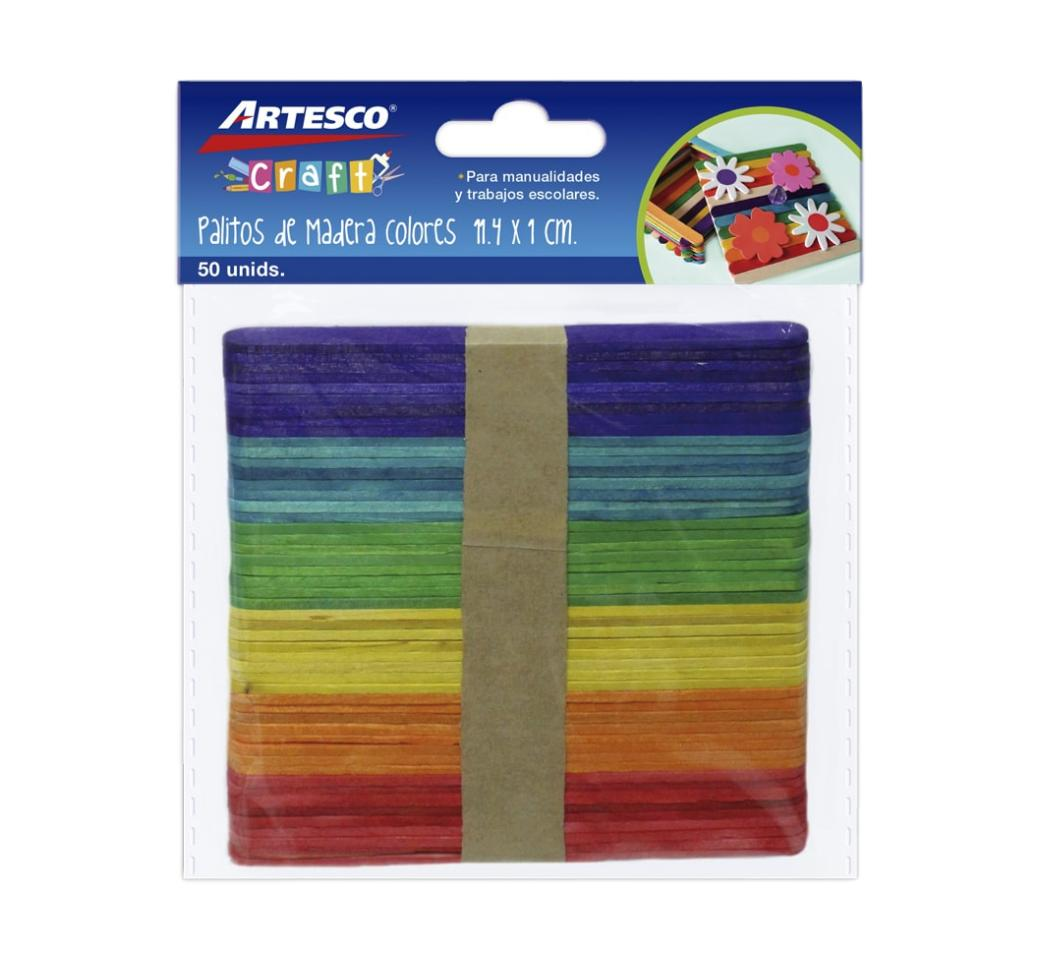 Palitos de Chupete Colores x 50 unid. Artesco