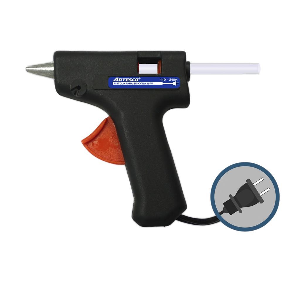 Pistola para Silicona en Barra Chica 15 W Artesco