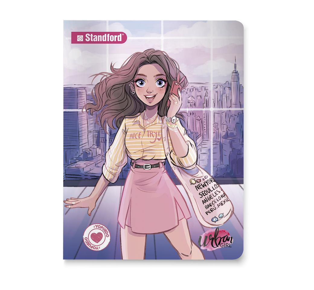 Cuaderno Deluxe Cuadriculado Urban Girls  Night A4 x 92 Hojas Standford