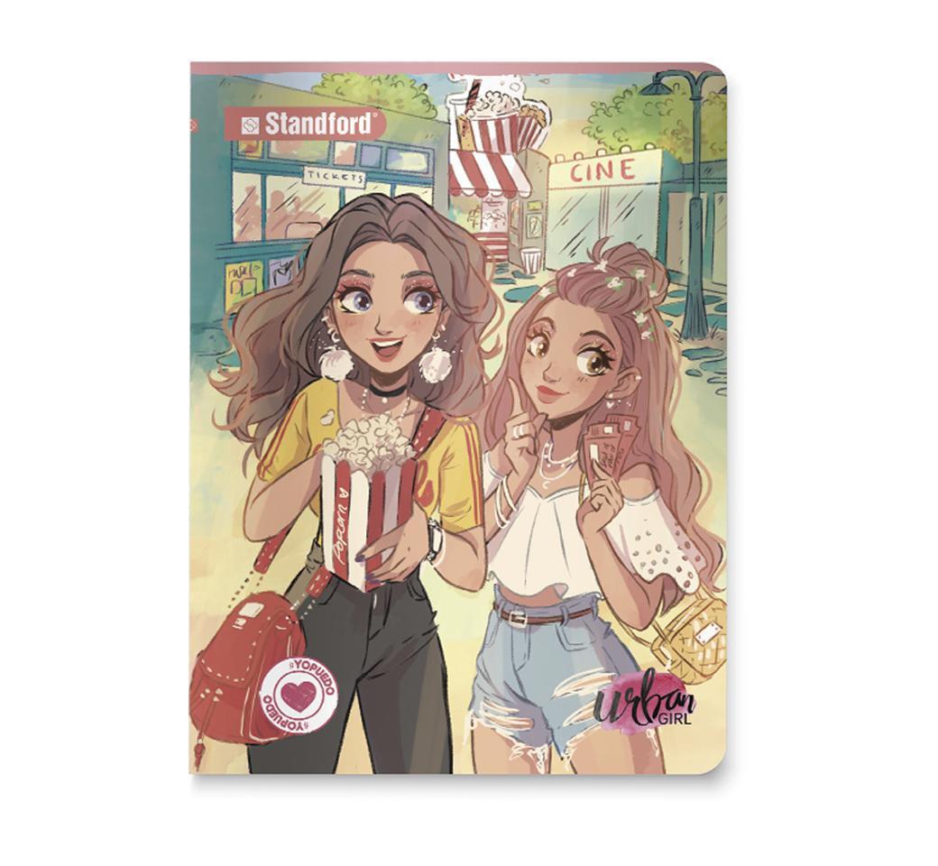 Cuaderno Deluxe Cuadriculado Urban Girls Amigas A4 x 92 Hojas Standford