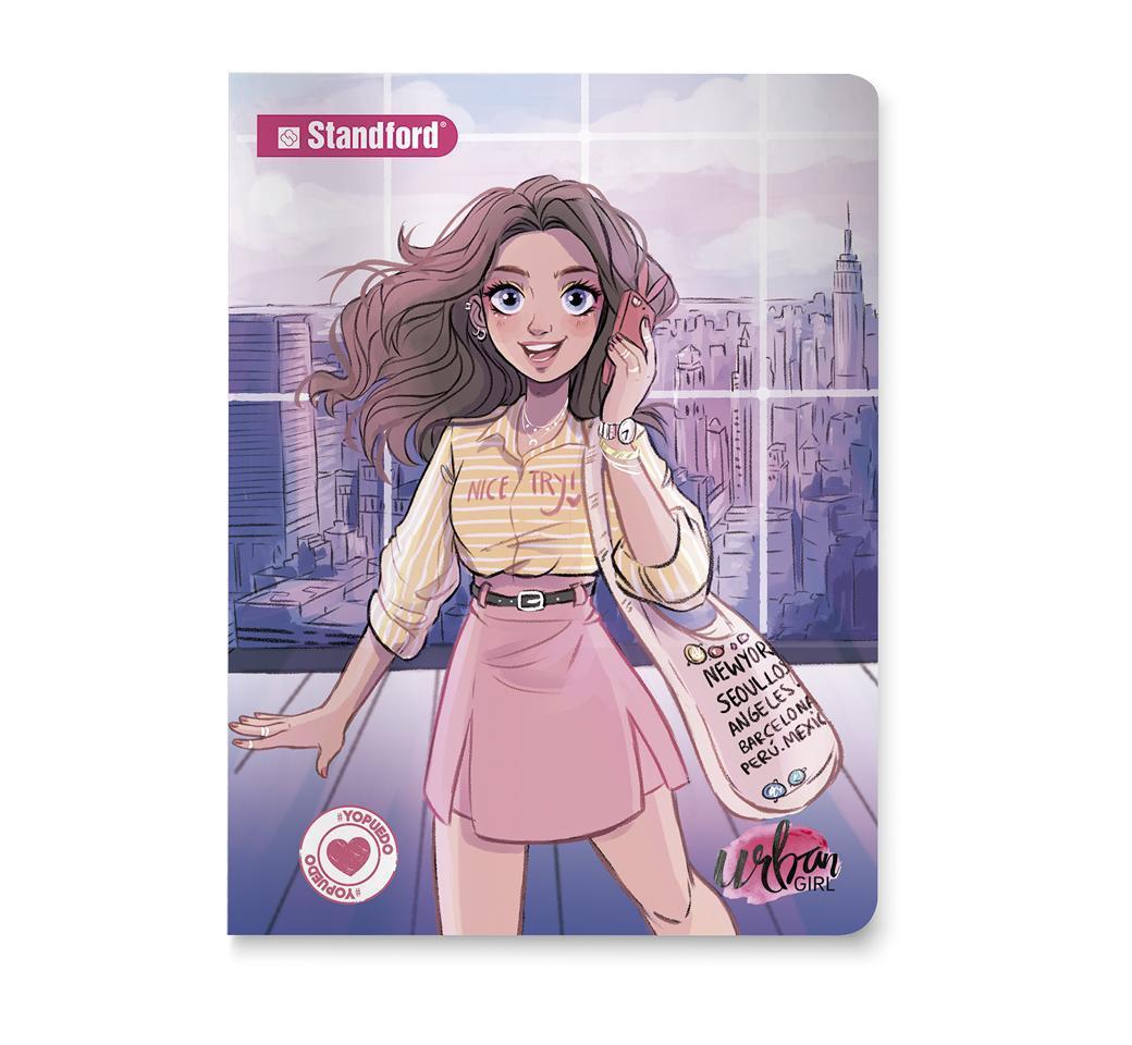 Cuaderno Deluxe Rayado Urban Girls Night A4 x 92 Hojas Standford