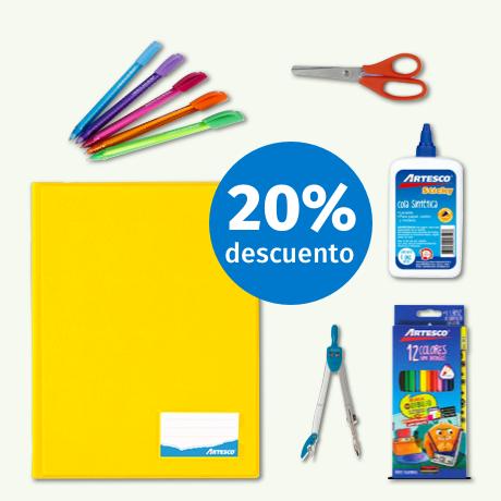 Útiles Artesco con 10% dscto