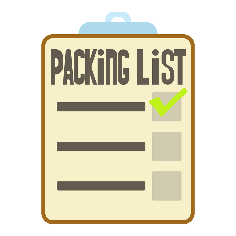 truckers packing list