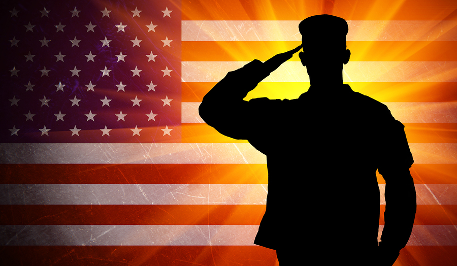 proud saluting military soldier 52591678