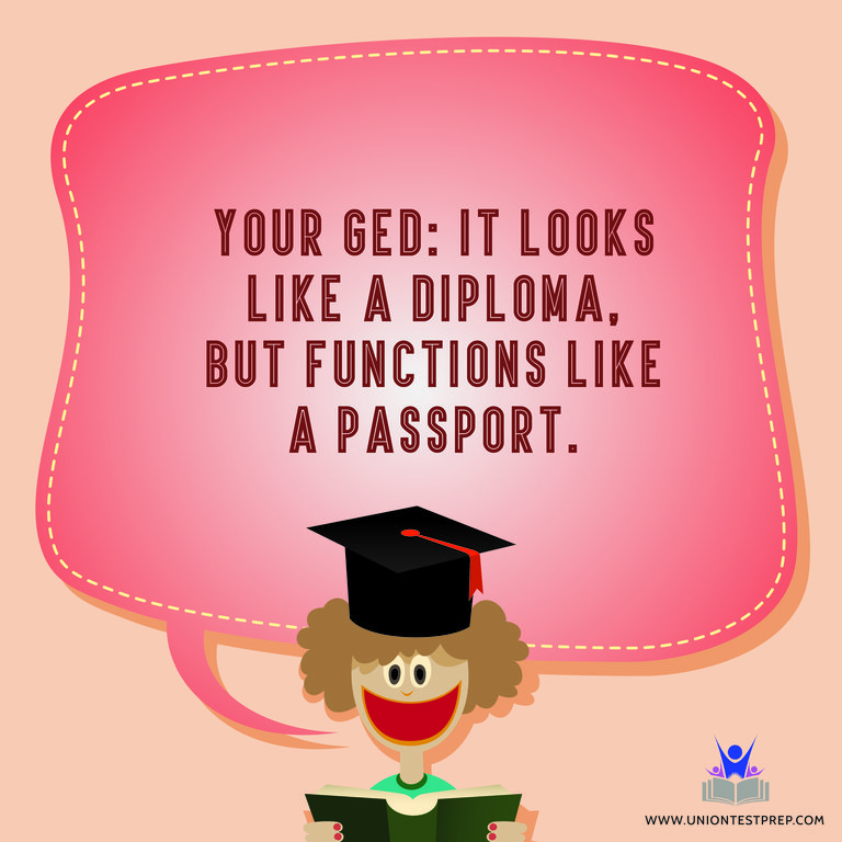 Your GED: It Looks Like A Diploma, but Functions like a Passport!