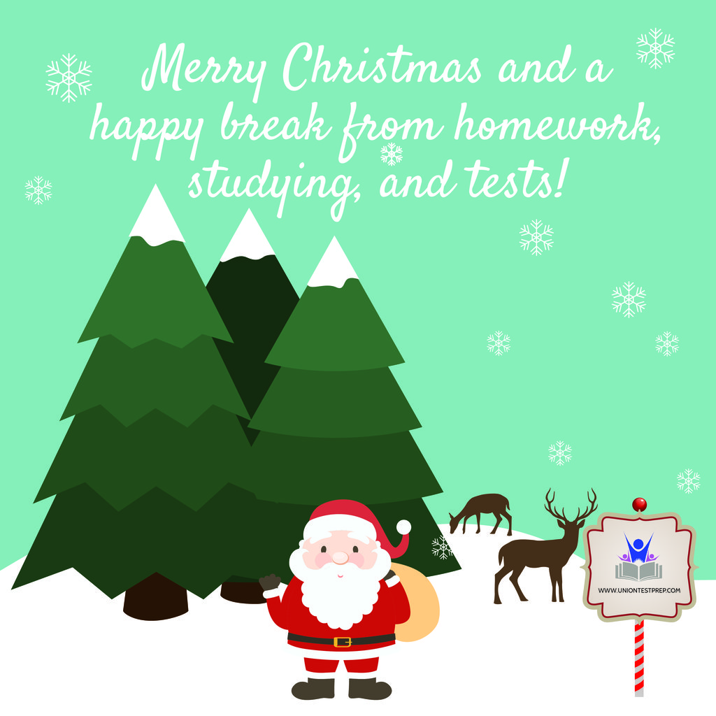 Merry Christmas Happy holidays break from school
