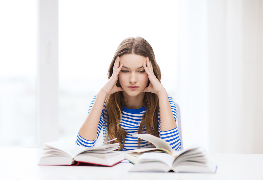 stressed student image