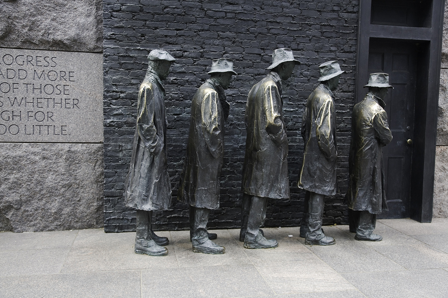 fdr memorial bread line depression