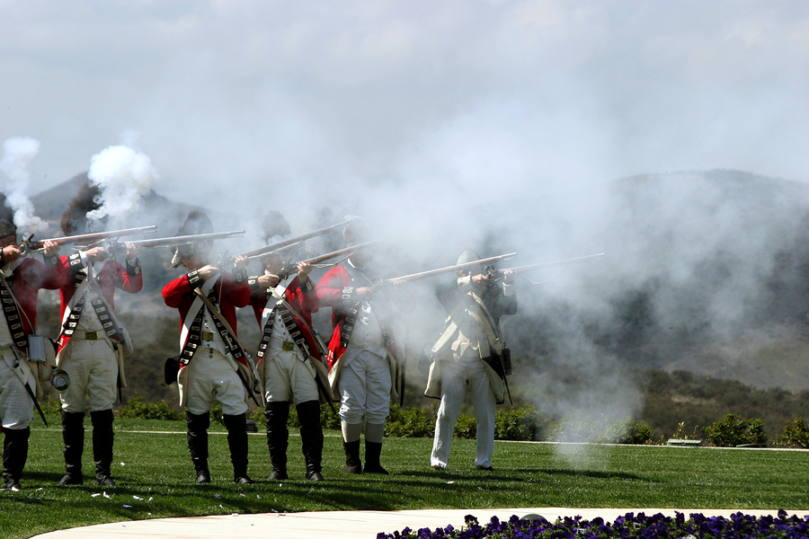 british army firing guns