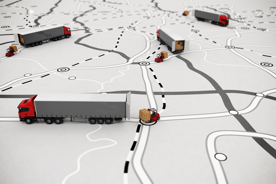 truck driving out of route