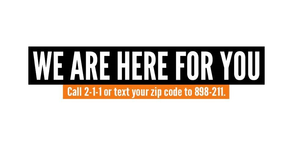 211 is helping callers find local survivor support and mental health resources.