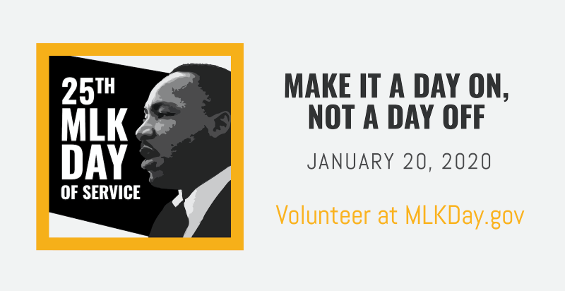 Will you celebrate the birthday of Dr. Martin Luther King Jr. honoring his legacy of service?