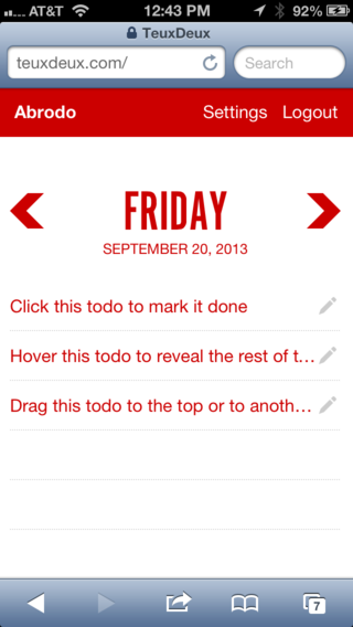 To-do on browser
