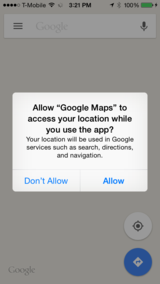 Location authorization