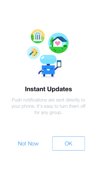 Push notification message