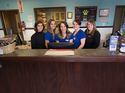 Troy Veterinary Hospital Reception Lobby Staff