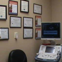Ultrasound Suite with Doctor's Posted Certificates