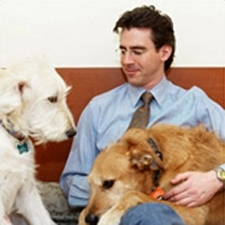 Dr. Kaplan with his dogs