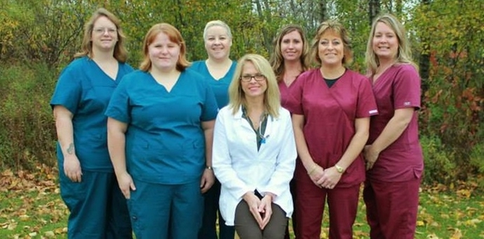 Clinic staff photo outside