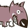 angry dog biting teeth
